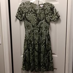 Brand New Green Print Lularoe Amelia Dress